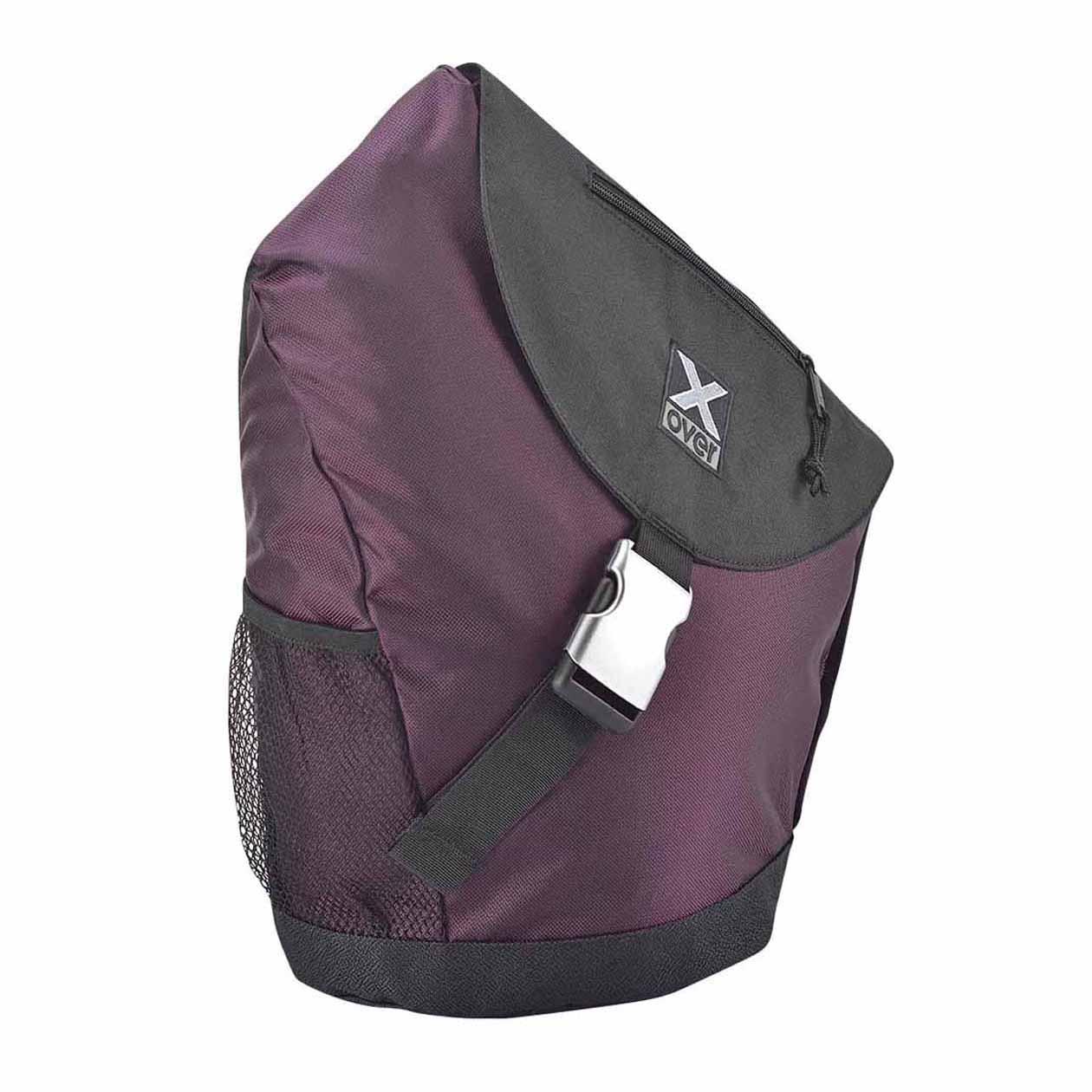 X-Over schuine rugzak original barcelona black purple Large