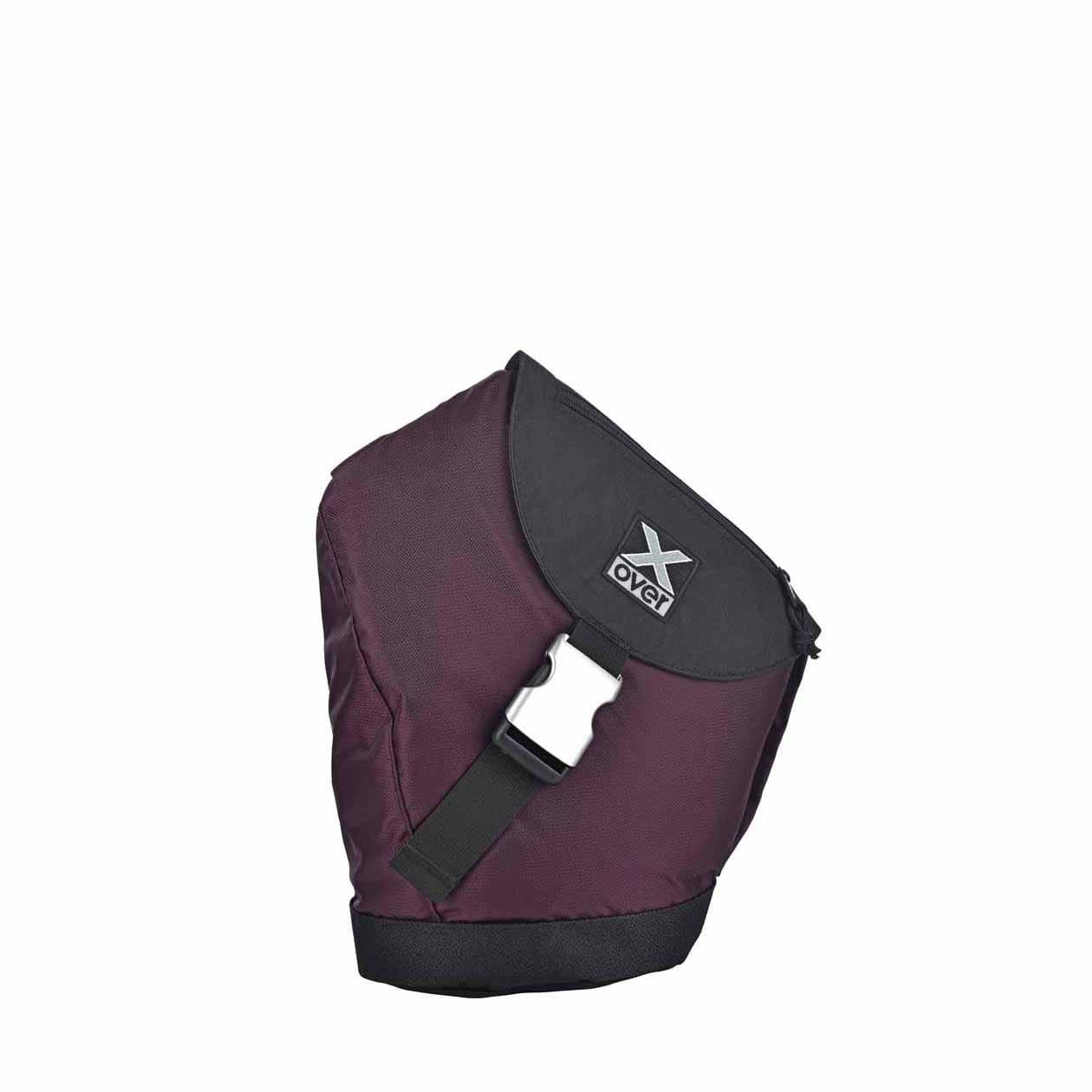 X-Over schuine rugzak original barcelona black purple Small