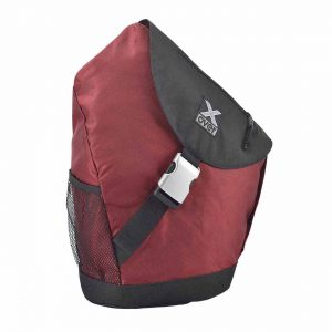 X-Over schuine rugzak barcelona Dark red L
