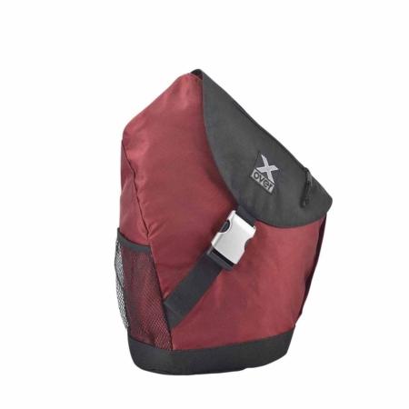 X-Over schuine rugzak barcelona dark red Medium