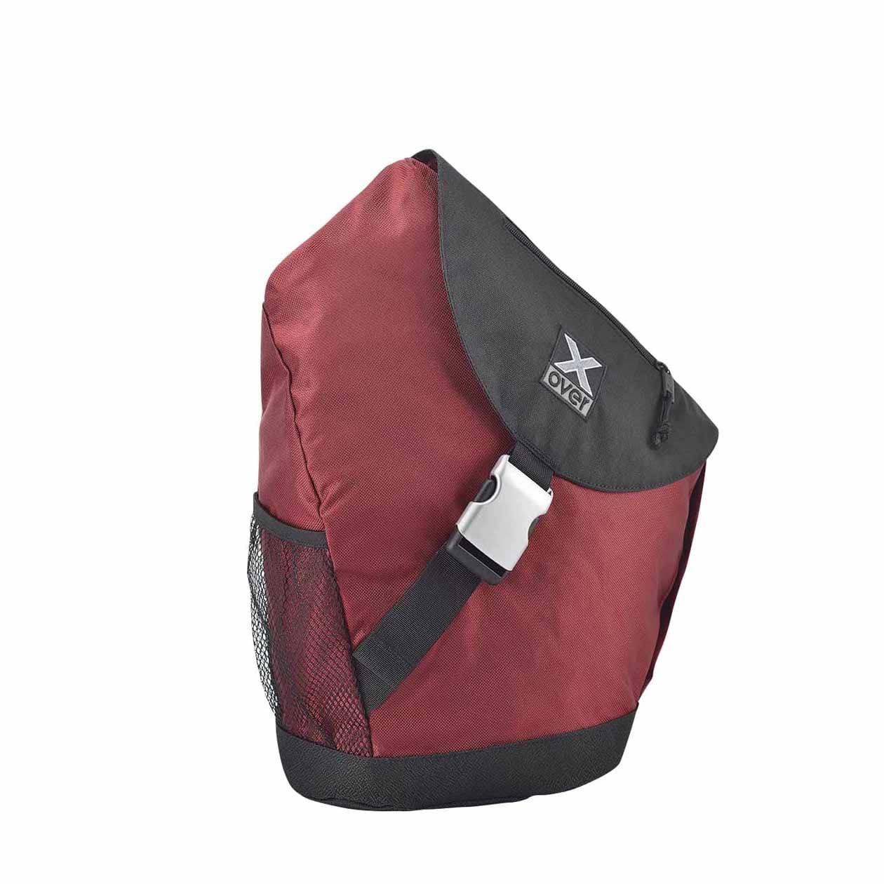 X-Over schuine rugzak barcelona dark red Medium