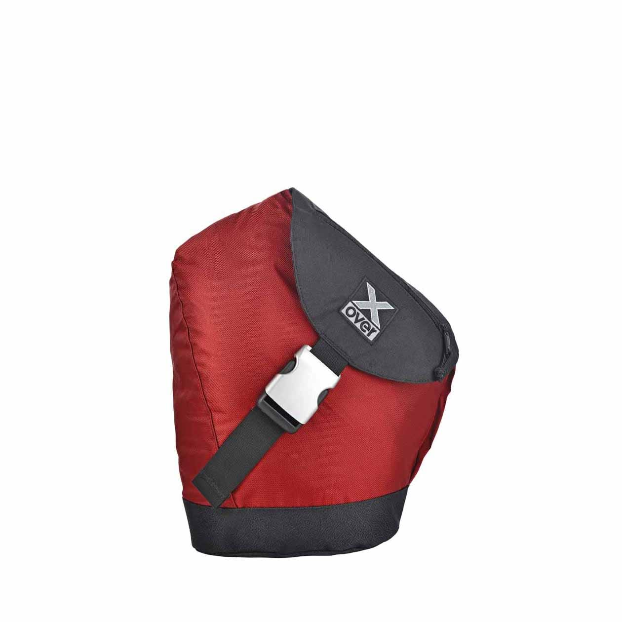 X-Over barcelona schuine rugzak dark red s