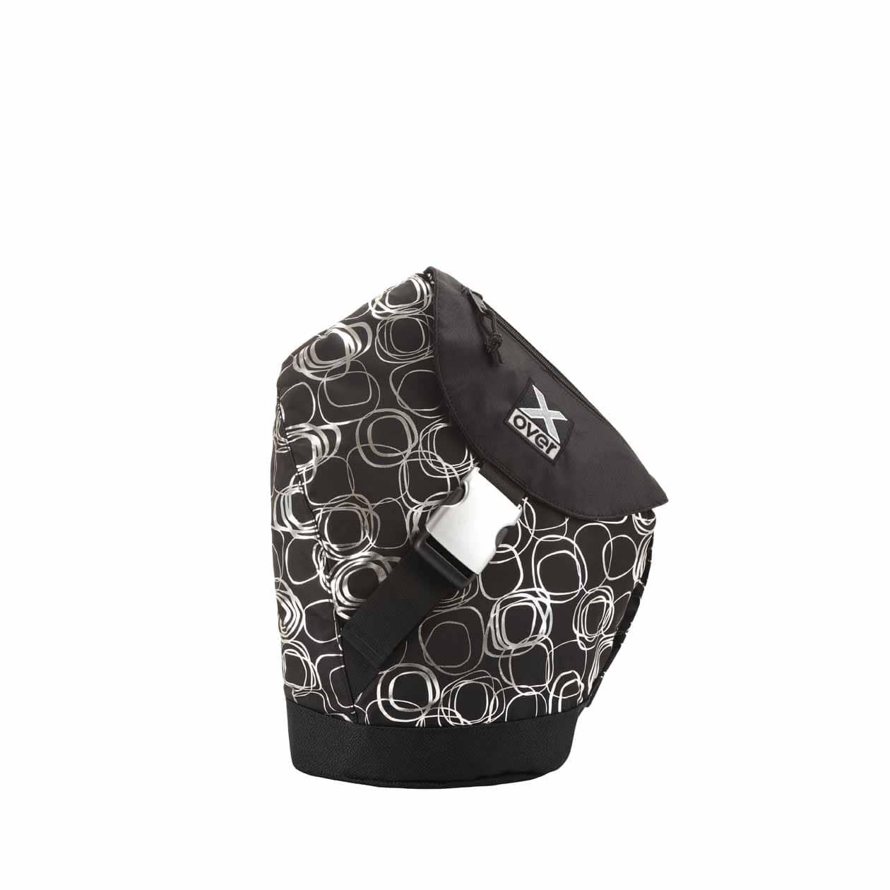 x-over schuine rugzak original en vogue silver blackness small
