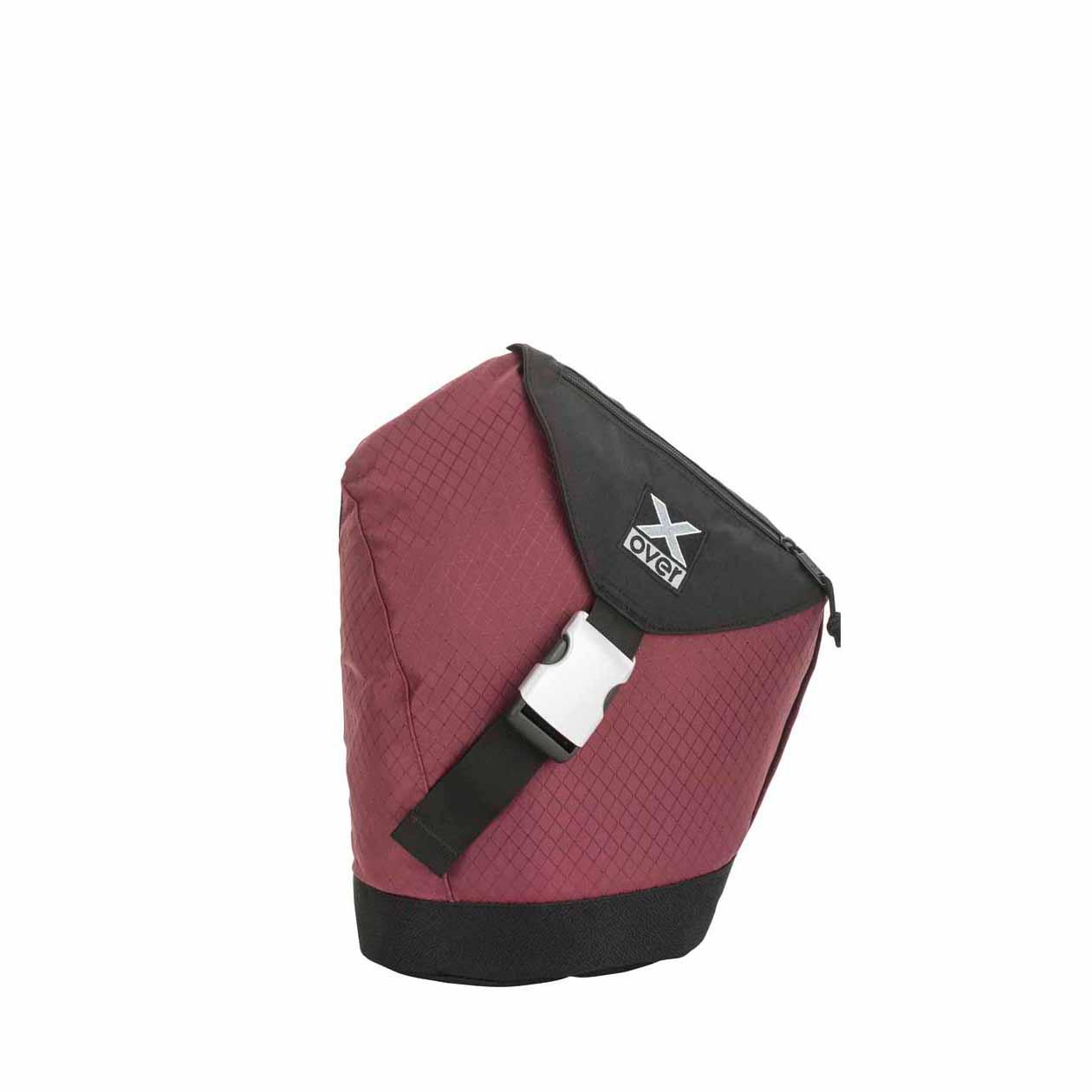 x-over schuine rugzak original frankfurt red rubin small