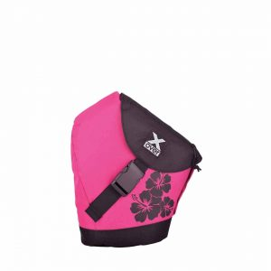 x-over schuine rugzak original Hawaiian Spirit Dahlien Pink Small