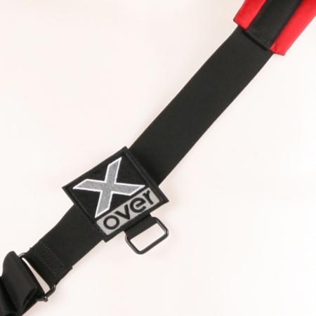 X-over schuine rugzak vooraanzicht met één band