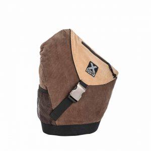 x-over schuine rugzak original cotton club corded brown medium