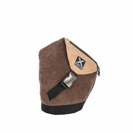 x-over schuine rugzak original cotton club corded brown small