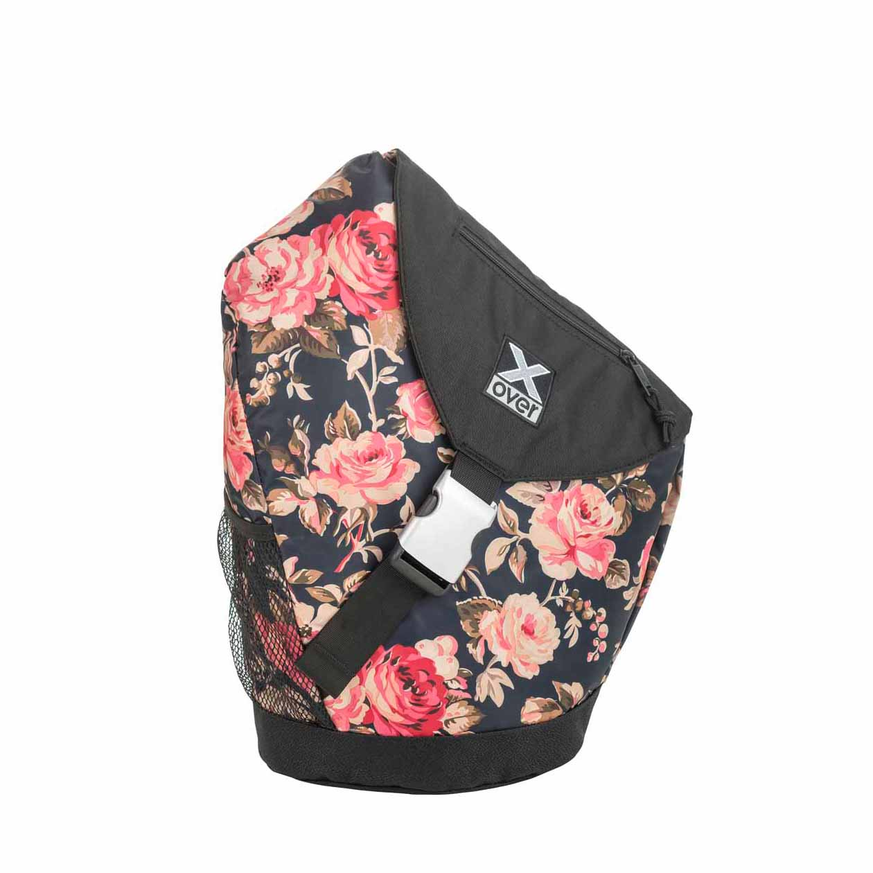 x-over schuine rugzak original joyride roses in black medium