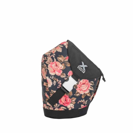 x-over schuine rugzak joyride roses in black small