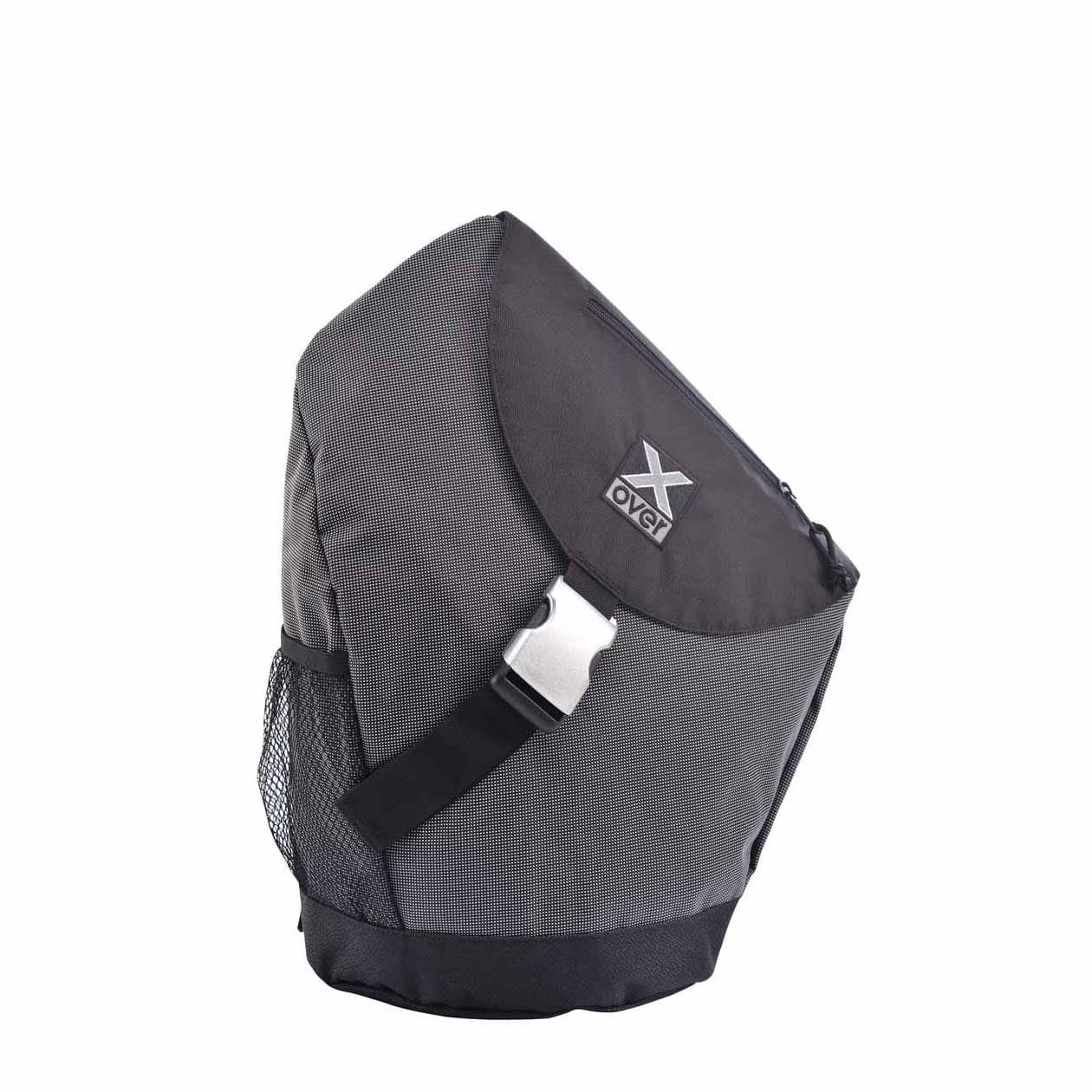 x-over schuine rugzak original steel pointed black medium