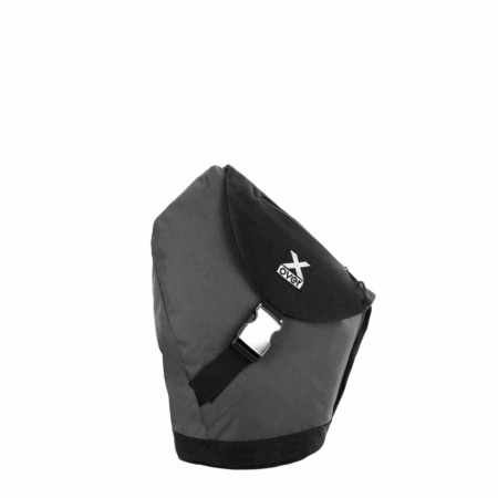 x-over schuine rugzak original steel pointed black small